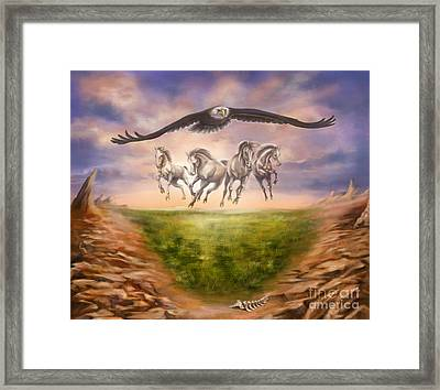 Strength Of The Horse Framed Print by Tamer and Cindy Elsharouni
