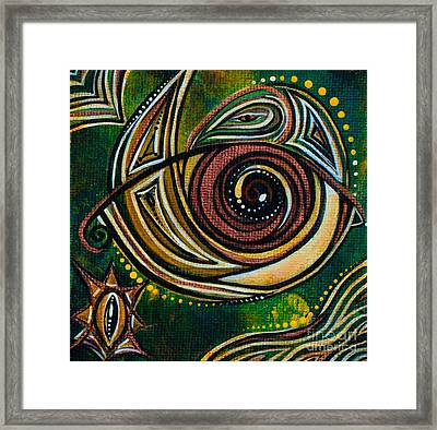 Framed Print featuring the painting Strength Spirit Eye by Deborha Kerr
