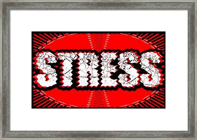 Stress, Conceptual Artwork Framed Print by Science Photo Library
