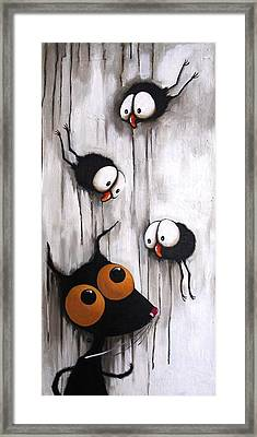 Stressie And The Crows Framed Print