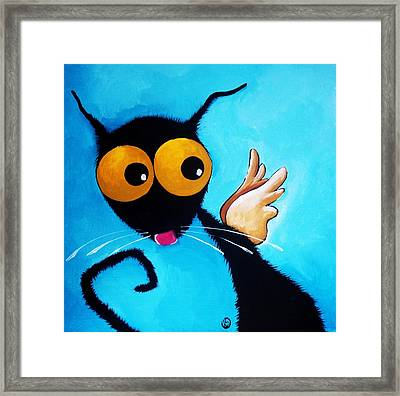 Stressie Cat Angel Framed Print