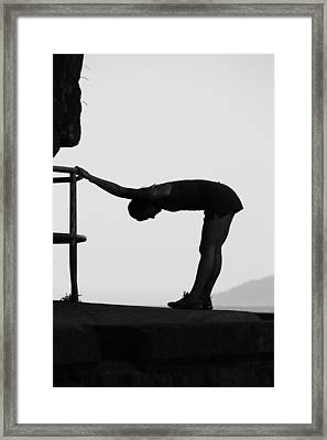 Stretch Before Run Framed Print by Empty Wall