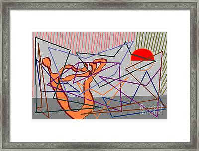 Stretching Framed Print by Meenal C