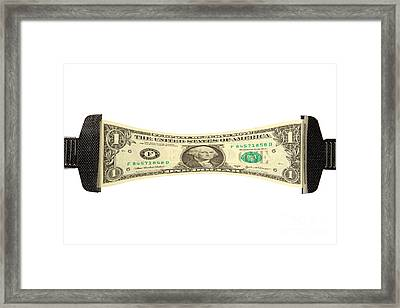 Stretching The Dollar Framed Print by Olivier Le Queinec