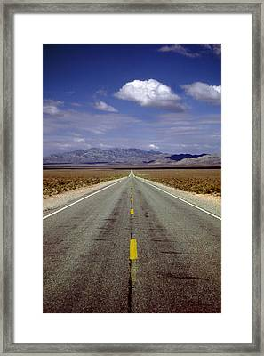 Stretching To Infinity Framed Print by Rod Jones