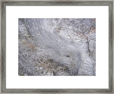Striation Framed Print by Angela Stout