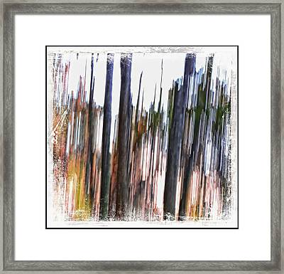 Striation Framed Print