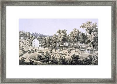 Stribling Springs, Spa Village, Augusta Framed Print