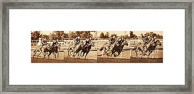 Stride For Stride Framed Print by Terri Cage