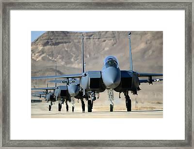 Strike Eagles Framed Print by Master Sgt Lee Osberry
