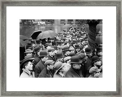 Strike Meeting, 1912 Framed Print by Granger