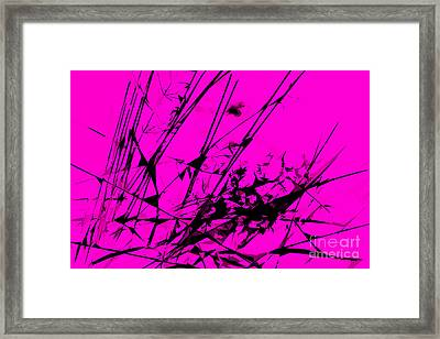 Strike Out Pink And Black Abstract Framed Print by Natalie Kinnear