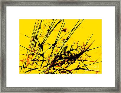 Strike Out Yellow And Black Abstract Framed Print by Natalie Kinnear
