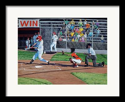 Baseball Batter Framed Prints