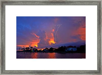 Strike Up The Middle At Sunset Framed Print