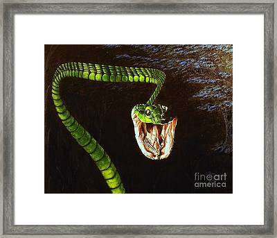 Framed Print featuring the painting Strike by Viktor Lazarev