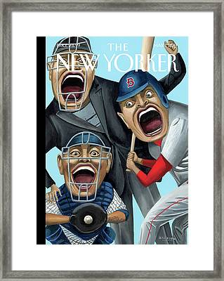 Strike Zone Framed Print by Mark Ulriksen