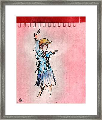 Striking A Pose Framed Print by William Rowsell