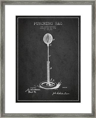 Striking Bag Patent Drawing From1894 Framed Print