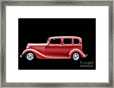 Striking In Red Framed Print by Deborah Adkins