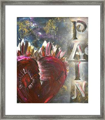 Striking Pain Framed Print