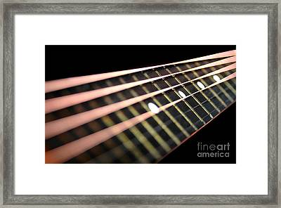 String Abstract Large Framed Print by Dan Holm
