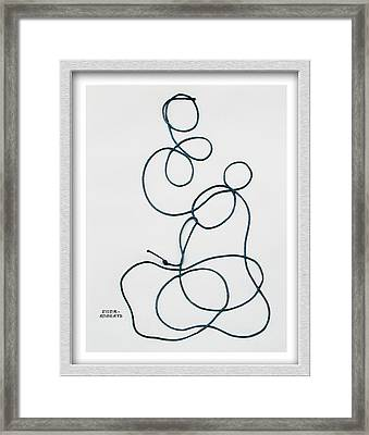 String Along With Me Framed Print by Eve Riser Roberts