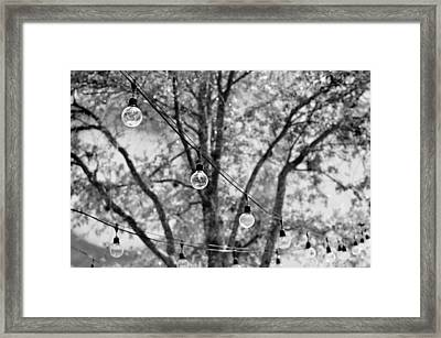 String Lights Framed Print