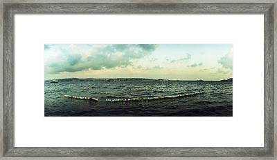 String Of Balloons On The Bosphorus Framed Print by Panoramic Images