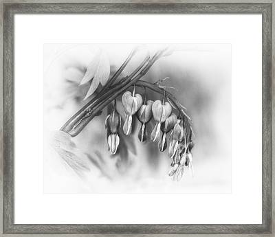 String Of Hearts Framed Print