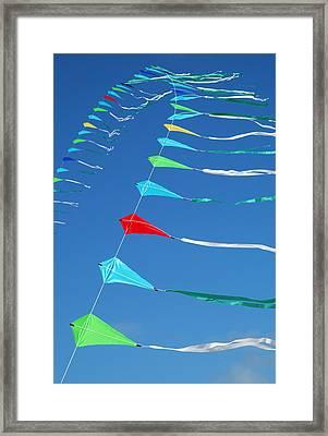 String Of Kites Framed Print