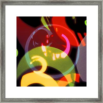 String Of Lights 2 Framed Print