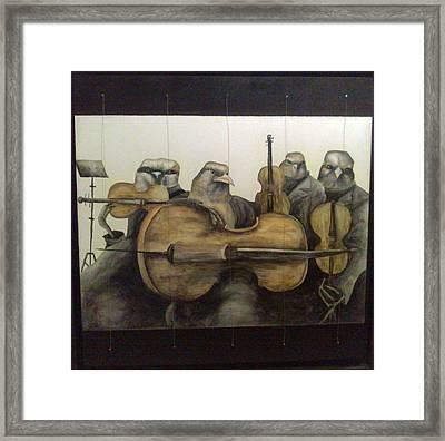 String Quartet Framed Print by Flor Avila