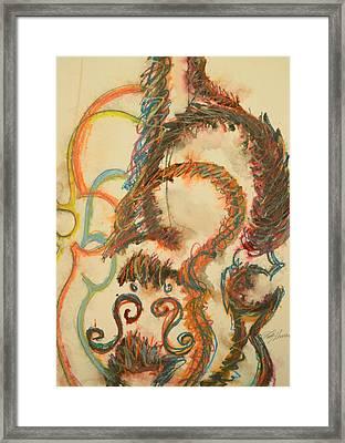 String Section Framed Print by Kathy Harrah