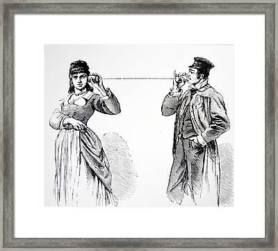 String Telephone Framed Print
