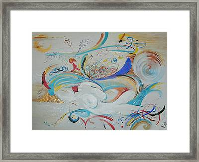 String Theory In Dreamland Framed Print by Konnie Laumer