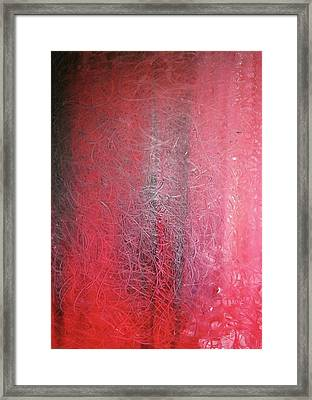 Framed Print featuring the painting String Theory - Mystery Rain by Carrie Maurer