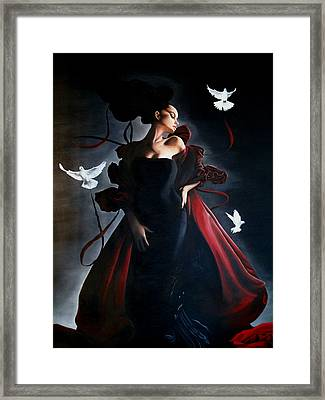 String Theory Framed Print by Tone Xzst
