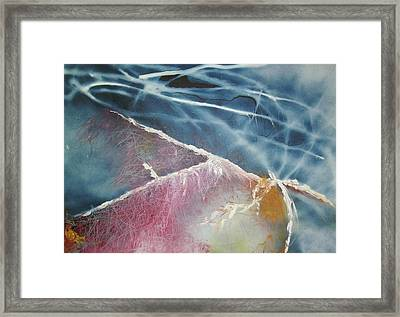 Framed Print featuring the painting String Theory - Wave by Carrie Maurer