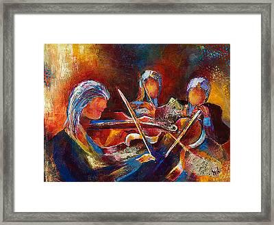 String Trio Framed Print