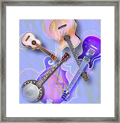 Stringed Instruments Framed Print by Design Pics Eye Traveller