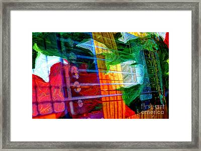 Strings And Things Digital Guitar Art By Steven Langston Framed Print by Steven Lebron Langston