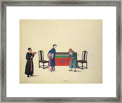 Strings For Musical Instruments Framed Print by British Library