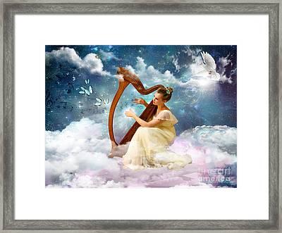 Strings Of My Heart Framed Print