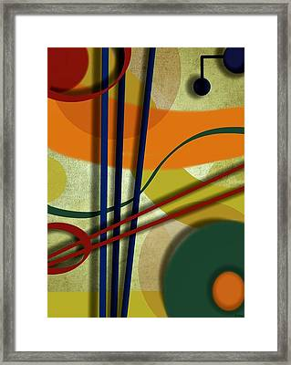 Abstract Strings Framed Print