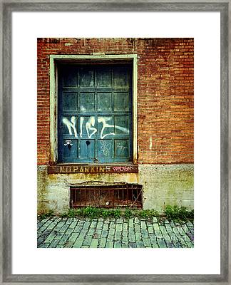 Strip District Doorway Number 1 Framed Print by Amy Cicconi