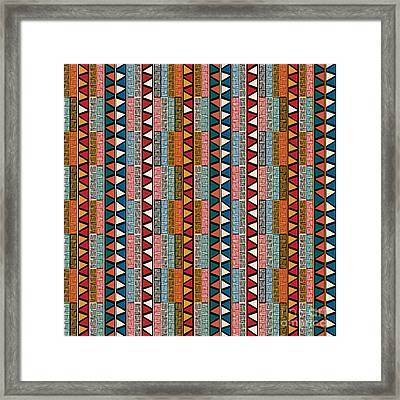 Strip Ethnic Seamless Pattern Framed Print