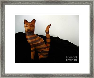 Striped Cat Framed Print