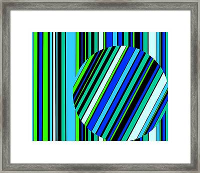 Striped Circle  C2014 Framed Print