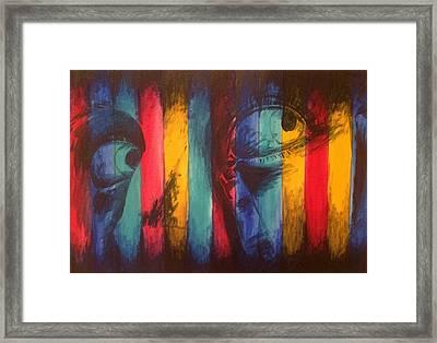 Striped Eyes Framed Print